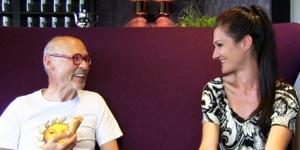 Lana im Interview mit Johannes Gutmann von Sonnentor bei einem Blogger Ausflug