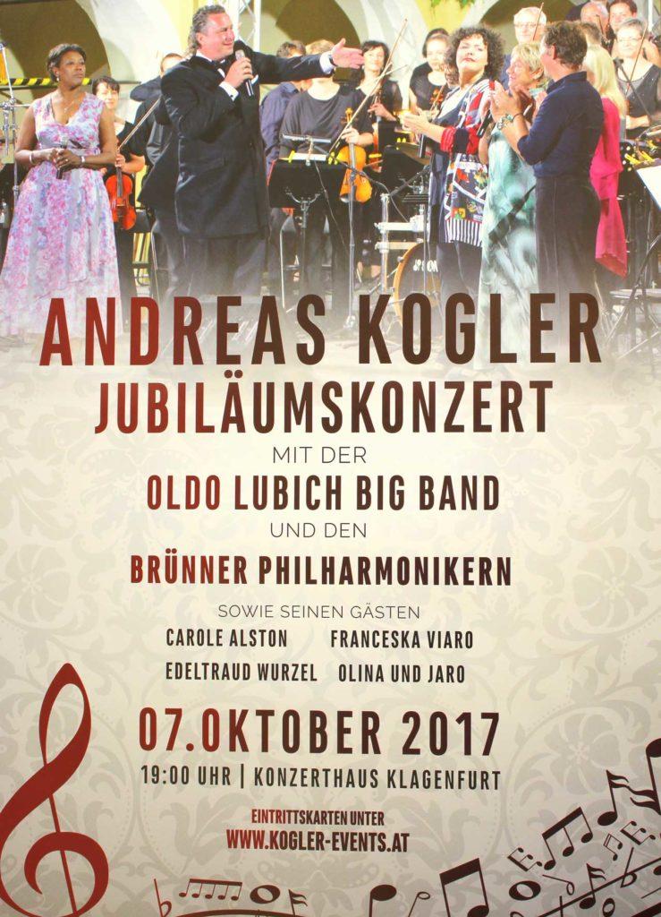 Hier ist das Plakat vom Andreas Kogler Konzert zu sehen.