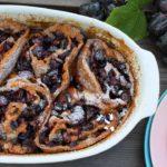 Trauben-Schnecken mit weißer Schokolade