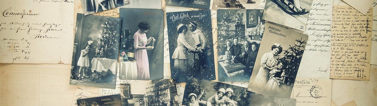Eine Sammlung alter Vintage Bilder