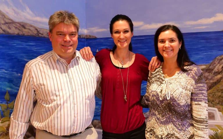 Dr. Edmund Schmidt, Mag. Sandra Exl und Nathalie Schmidt