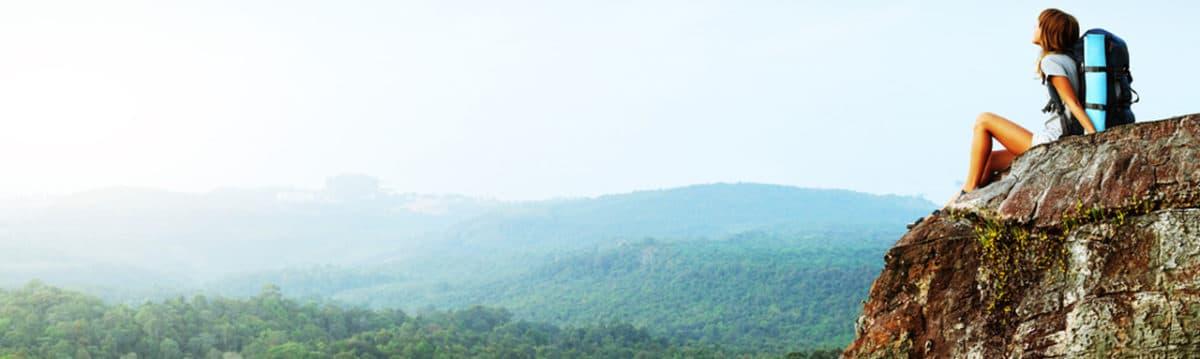 Ein Abenteurer am Berg
