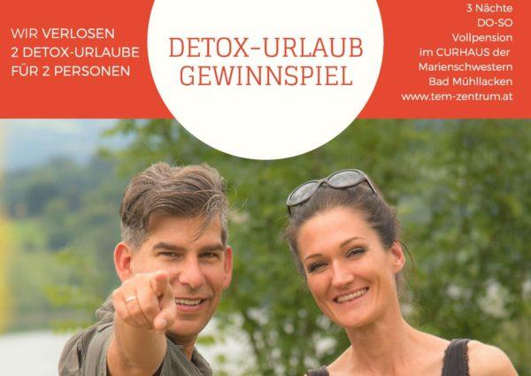Sandra und Matthias Exl am Bild Verlosung Fastenurlaub