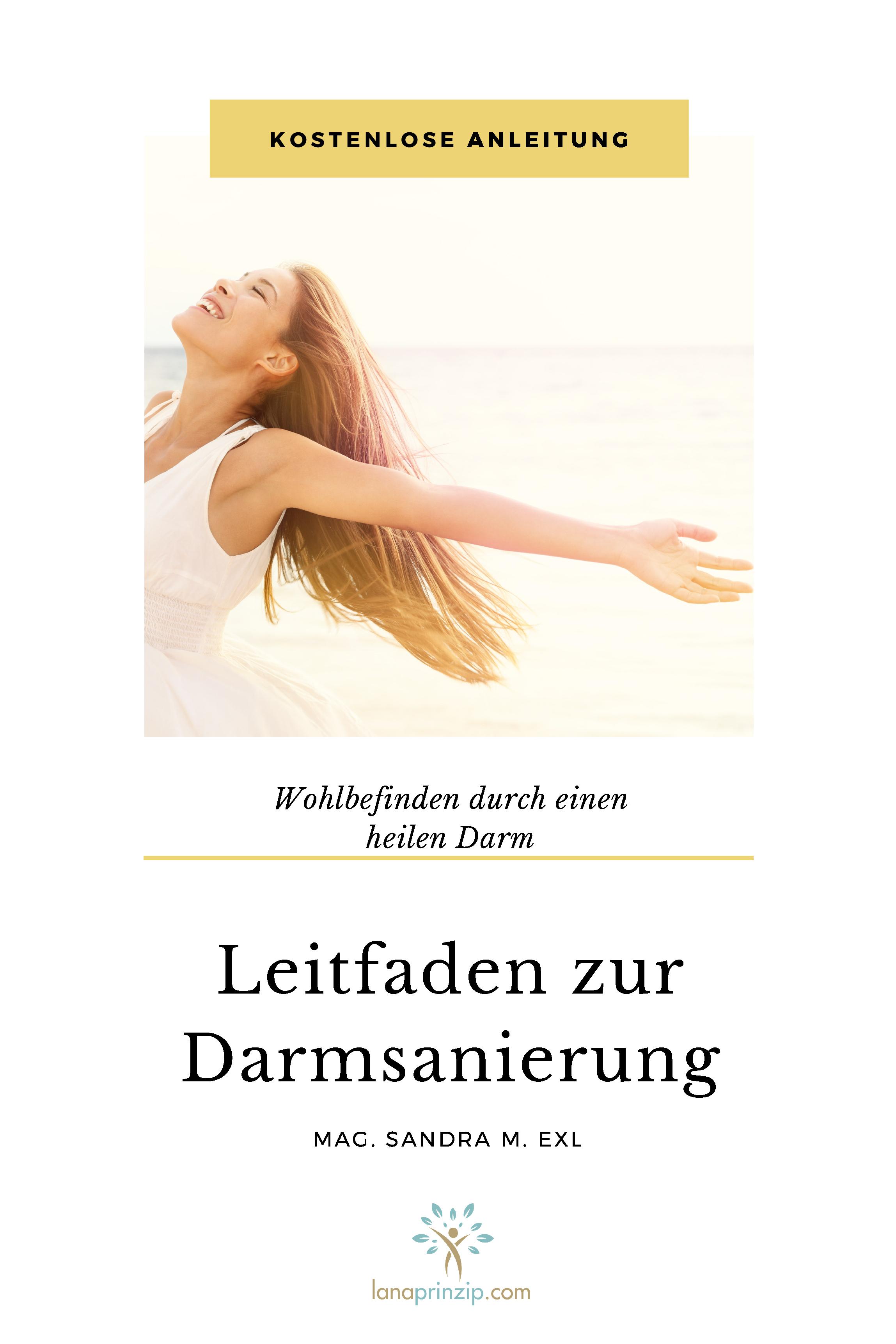 Cover des Booklets Leitfaden zur Darmsanierung von Mag. Sandra M. Exl
