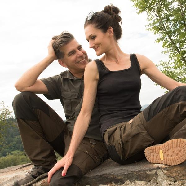 Sandra und Matthias in der Natur