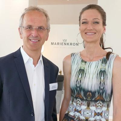 Sandra Exl und Prof. Michalsen