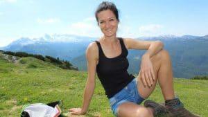 Sandra Exl am Berg in der Nähe vom Gesundheitshotel Spanberger in Gröbming