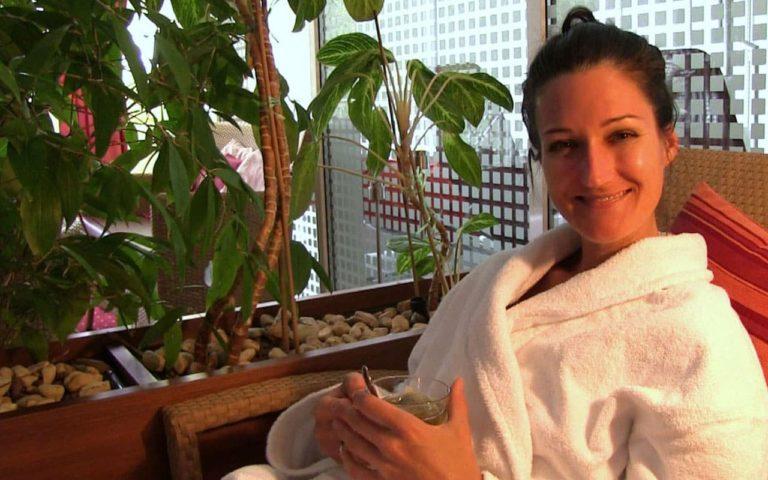 Sandra Exl im Wellness Bereich vom Curhaus Bad Mühllacken